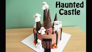 halloween house cake simple to make halloween haunted house castle with jill youtube