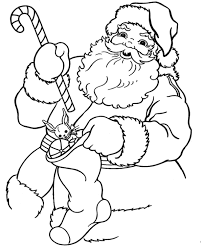 santa christmas coloring pages cartoon christmas coloring