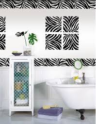 animal print bathroom ideas zebra print bathroom set lavish home design