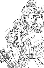 cute pretty manga coloring page wecoloringpage