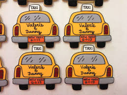 nyc wedding taxi cab cookies by ruthiescookies on etsy https www