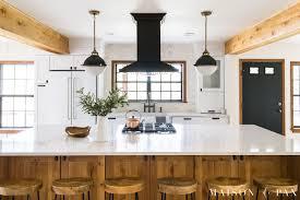 modern farmhouse kitchen black cabinets rustic modern farmhouse kitchen reveal maison de pax