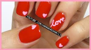 love and hearts nail art tutorial youtube love nail art best nail