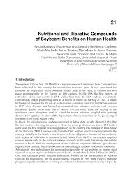 nutritional and bioactive compounds of soybean benefits on human