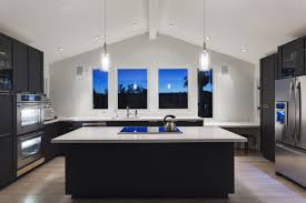 White Kitchen With Black Island Black U0026 White Kitchens A Timeless Contrast For Your Home See
