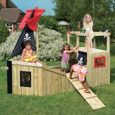 forest pirate galleon wooden diy playground kit pirate ship cubby