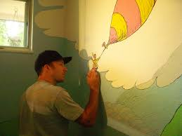 me painting dr seuss mural we decided to do a dr seuss nu flickr