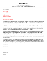 Resume Cover Letter Examples Management by Cover Letter Example