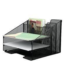 Safco Mesh Desk Organizer Vertical Desk Organizer 6 Tray Vertical Desktop Wall Mount