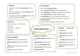 182 free esl memory worksheets
