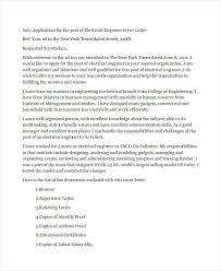 specimen of cover letter for job application 9 job application letters for engineer free sample example