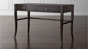 Colette Espresso Vanity TableDesk Crate And Barrel - Crate and barrel black bedroom furniture