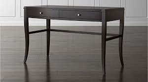 colette espresso vanity table desk crate and barrel