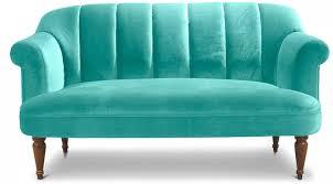 canape turquoise canapé vintage 3 places velours turquoise louis xv lestendances fr