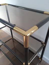 Metal Console Table Vintage Brass And Gun Metal Console Table 1970s For Sale At Pamono