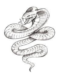black tribal snake tattoo for men