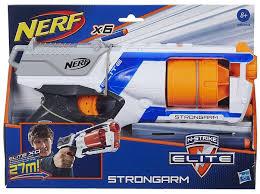 nerf car hasbro nerf n strike elite strongarm blaster mėlyna one size