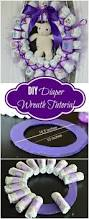 best 25 diaper wreath ideas on pinterest baby boy shower