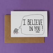 i believe in you luck card by martha and hepsie