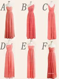 bridesmaid dresses coral coral bridesmaid dresses cheap bridesmaid dresses chiffon