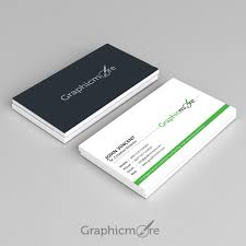 Business Card File Corporate Green Business Card Design Vector File