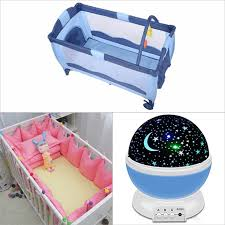 Crib Bed Combo Baby Crib Bed Sheet Led Light Combo