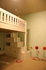 Kids Loft Bed With Storage Is This Not The Cutest Thing Ever Playhouse Loft Bed With Stairs