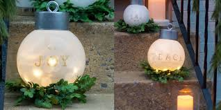 oversized ornaments tutorial how to make large outdoor