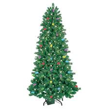 ge itwinkle pre lit 7 5 led artificial christmas tree clear