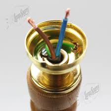Table Lamp Brass Bulb Holder How To Wire A Bc Lampholder