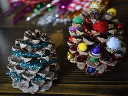 pinecone christmas tree holiday craft for kids adventures of mel