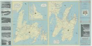 Newfoundland Map Newfoundland Road Map 1953 Map Room