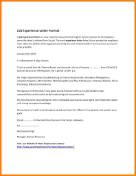 Job Verification Letter Format 6 Application For Experience Certificate Format Farmer Resume