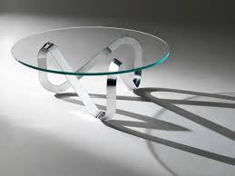 coffee table contemporary glass round libra by claus modern tables