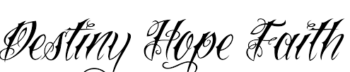 destiny hope faith tattoo design photo 2 photo pictures and