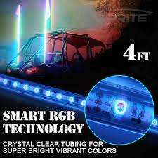 Led Whip Flags 4ft Remote Control Rgb Pole Led Whip Light Chasing Dancing Light