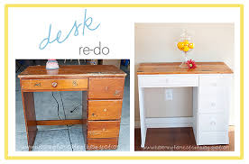Desk Refinishing Ideas Desk Re Do Blooming Homestead