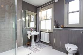 tongue and groove bathroom ideas tongue and groove paneling ideas bathroom scandinavian with gray