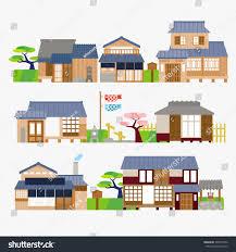 traditional japanese house stock vector 306574556 shutterstock