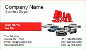Sales Business Card General Auto Dealer Business Cards Designsnprint