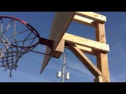 Building A Backyard Basketball Court How To Build A Basketball Hoop For Cheap Part 5 Youtube