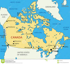 A Map Of Canada by Vector Map Of Canada Stock Photo Image 8002860