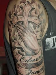 65 images of praying hands tattoos way to god