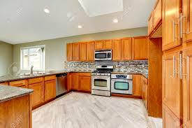 kitchen backsplash with light brown cabinets luxury kitchen room with bright brown cabinets mosaic backsplash