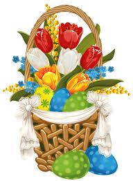 painted easter baskets painted easter basket with easter eggs png clipart рисунки цветы