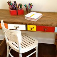 Childs Wooden Desk Stainless Steel Based Kids Table With Round White Wooden Table Top