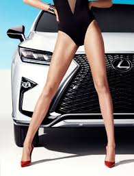 lexus youtube uk lexus rx featured in sports illustrated shoot with model hailey