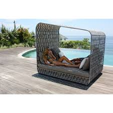 skyline design strips cabana double rattan daybed outdoor