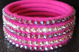 crystal pink bracelet images Hawaiian pink ballroom bangles with fuschia ab swarovski crystal png