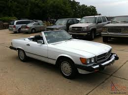 white mercedes convertible mercedes 560 sl convertible white blue blue interior